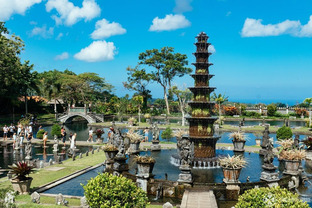 The tirta Gangga water gardens in East Bali, Indonesia