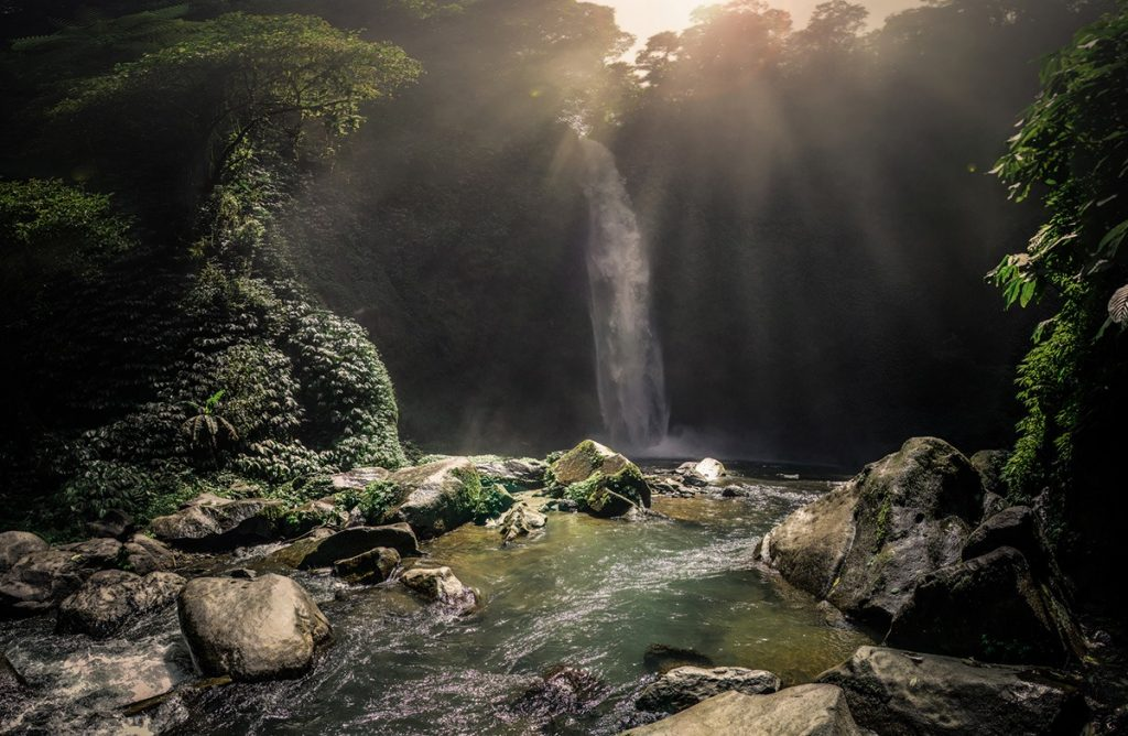 Just one of the many beautiful waterfalls in sukuwati, Bali