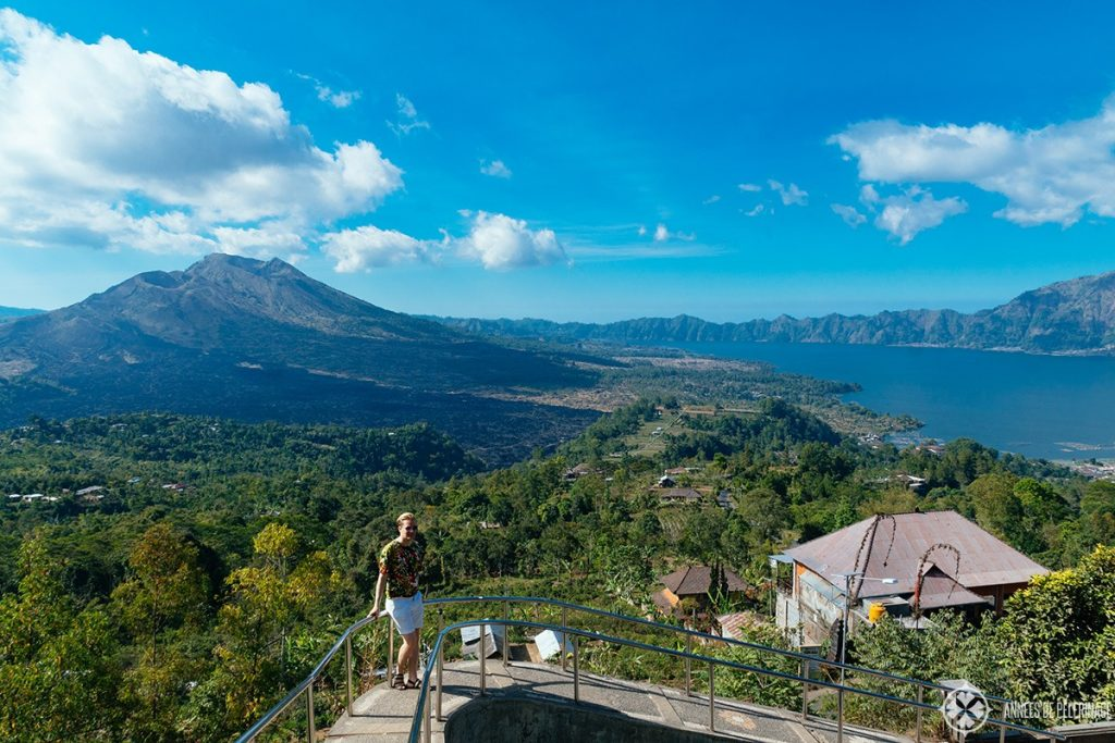 View of Mount Batur and danau batur lake in Bali, Indonesia