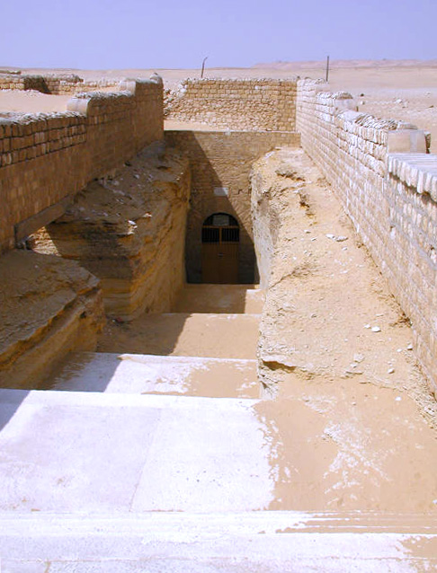 The entrance to the Serapeum of Saqqara