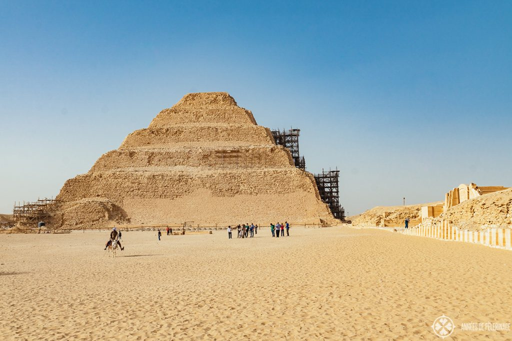 step pyramid of djoser in saqqara near Cairo, Egypt