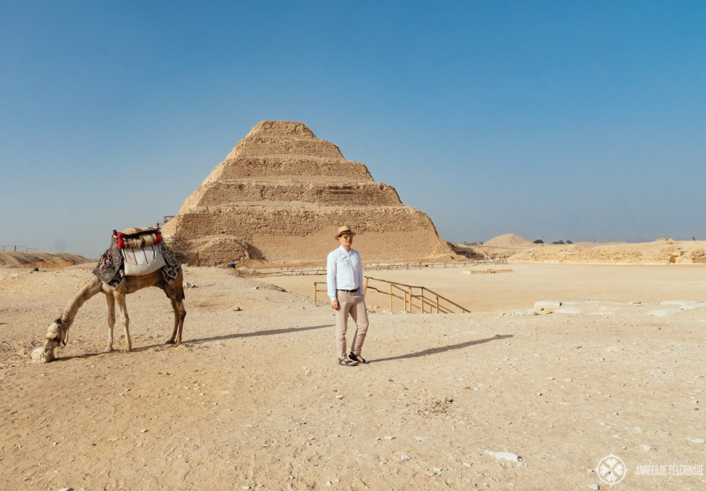 step pyramid of king djoser in saqqara near cairo egypt