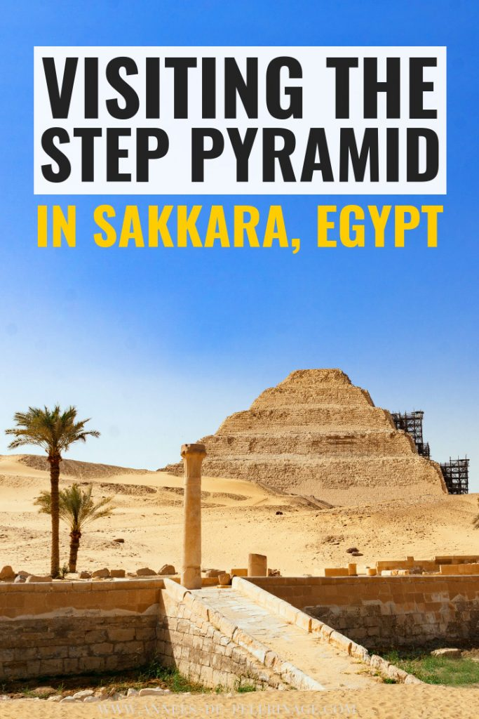 Everything you need to know about visiting the step Pyramid of King Djoser in Saqqara, Egypt. Older than the Pyramids of Giza, this unique UNESCO World Heritage sites with its huge Ancient Egyptian collonade is a must-see for every Egypt itinerary. Find out more about visiting Sakkara on a day trip from Cairo. #Cairo #Egypt #Travel #travelguide #archeology