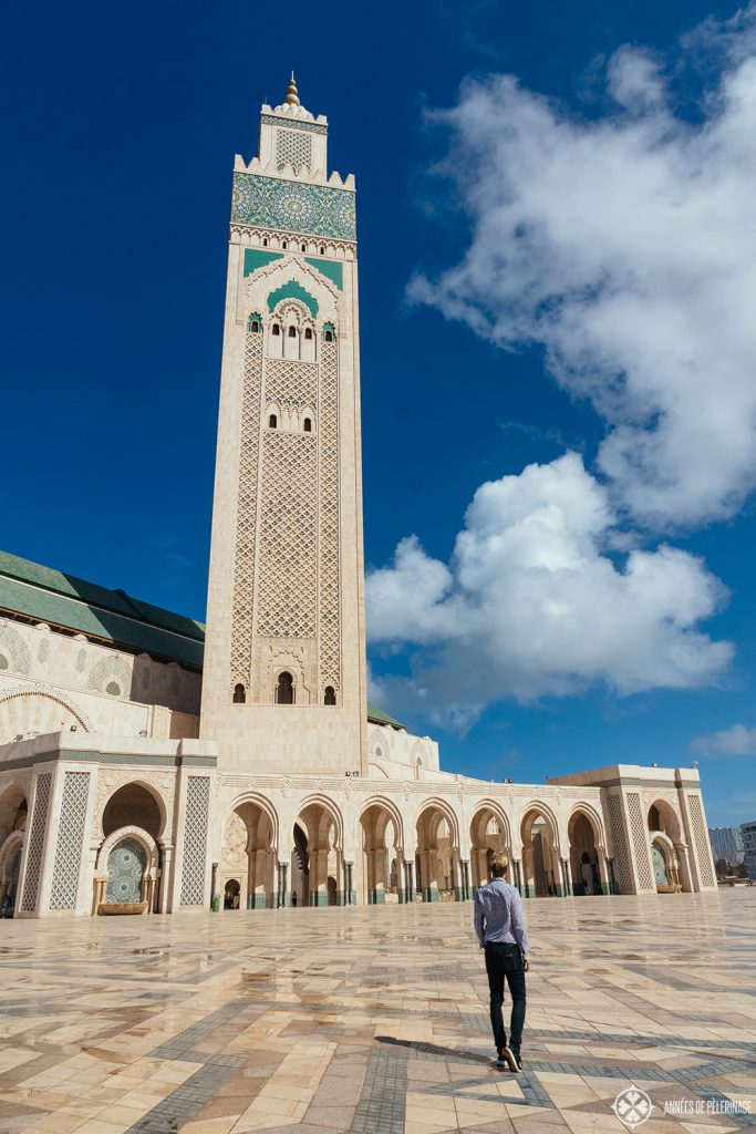 The Hassan II Mosque in Casablanca - the tallest mosque in the world and one of the most famous things to see in Morocco