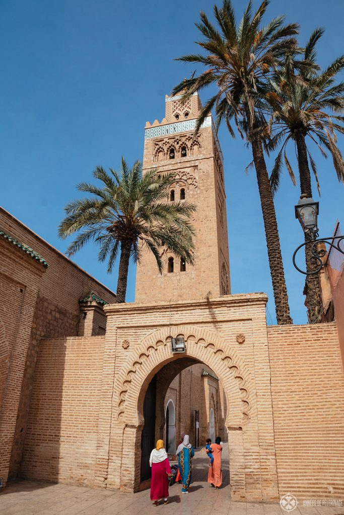 Marrakesh's Koutoubia Mosque is one of the largest mosques in the country and a must-see in Morocco