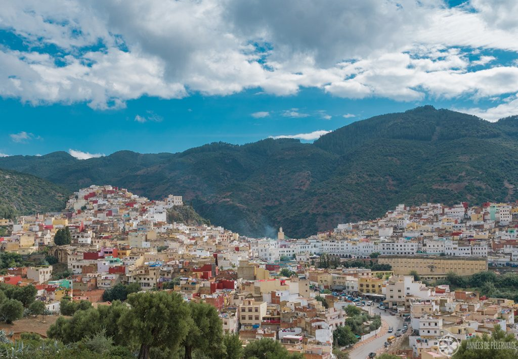 View of the Moulay Idriss Zerhoun - a unique pilgrimage site near Meknes, Morocco