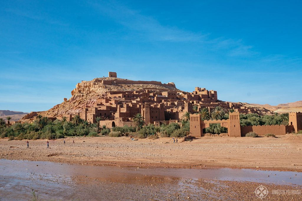 Aït Benhaddou with the river Asif Ounila in the foreground