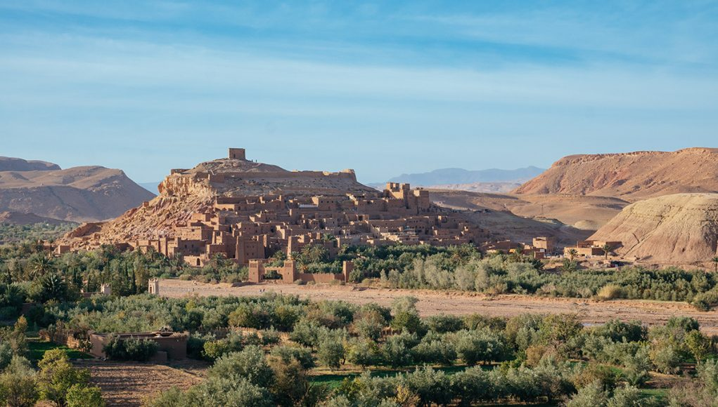 The desert fortress Aït Benhaddou - a Unesco World hertiage site in the very south of Morocco