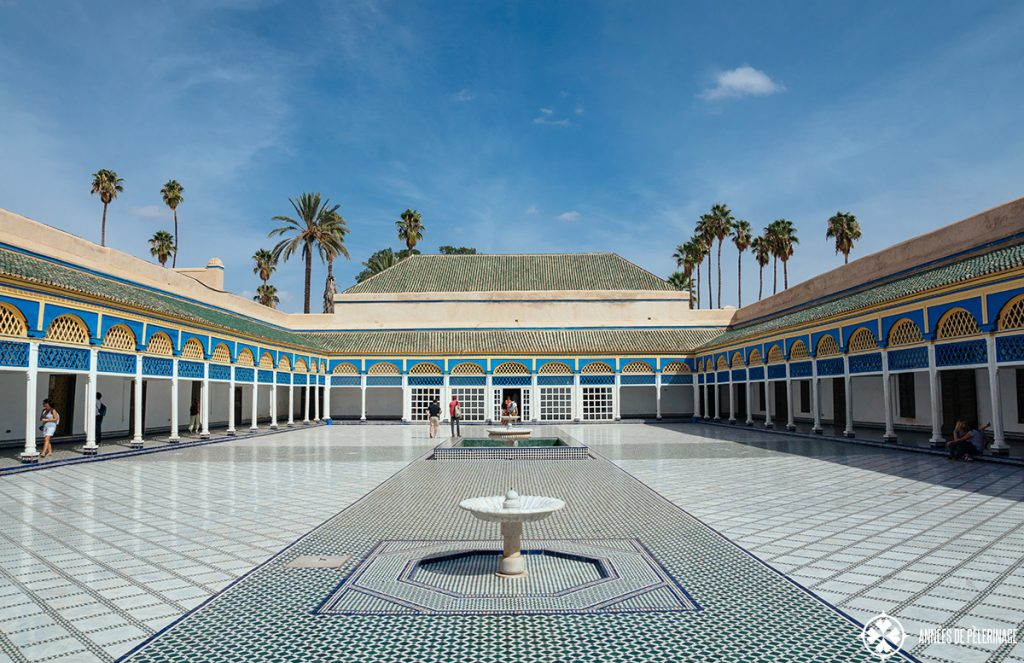 Bahia Palace in Marrakesh in October