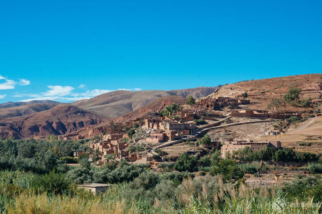A typical Berber village in the Mountains near Asni, Morocco
