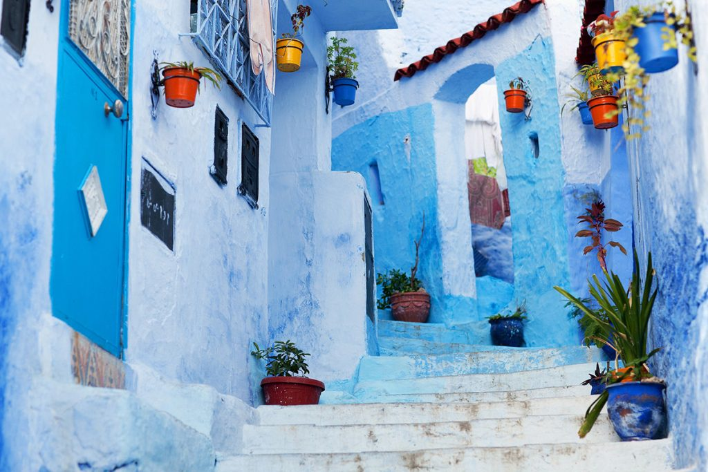 A typical alley in Chefchaouen