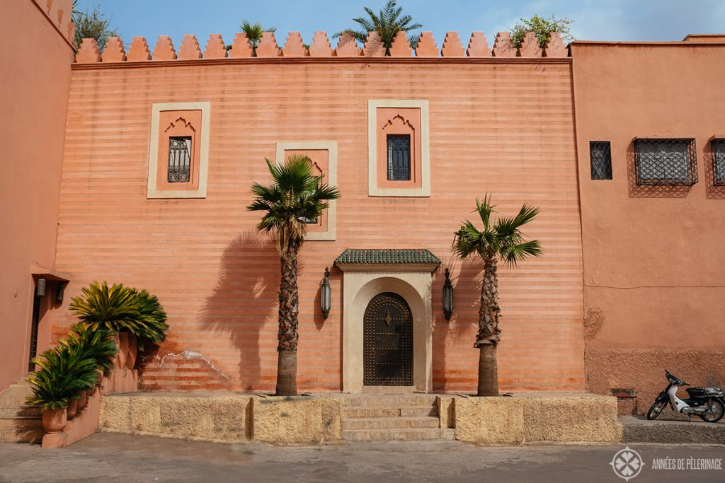 One of the many beautiful town houses in Marrakech