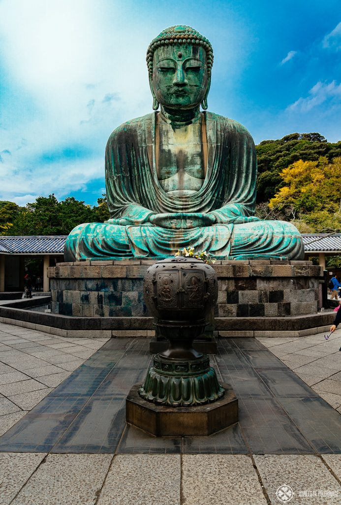The gread Buddha of Kamakura meditating in Dhyana-Mudra - one of Japan's highlights
