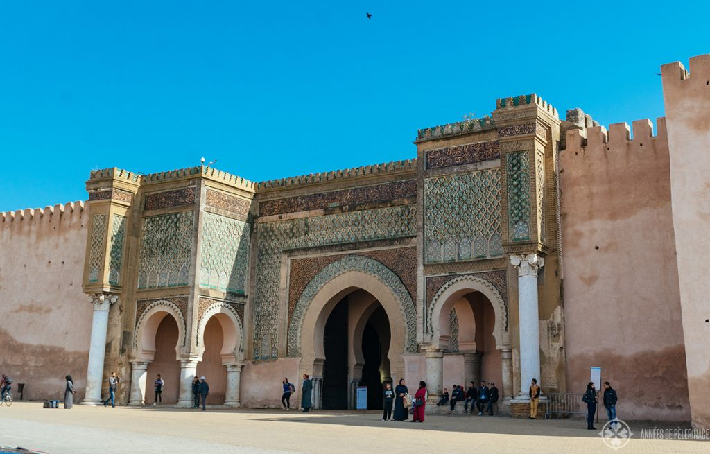 The Bab Mansour Gate in Meknes, Morocco
