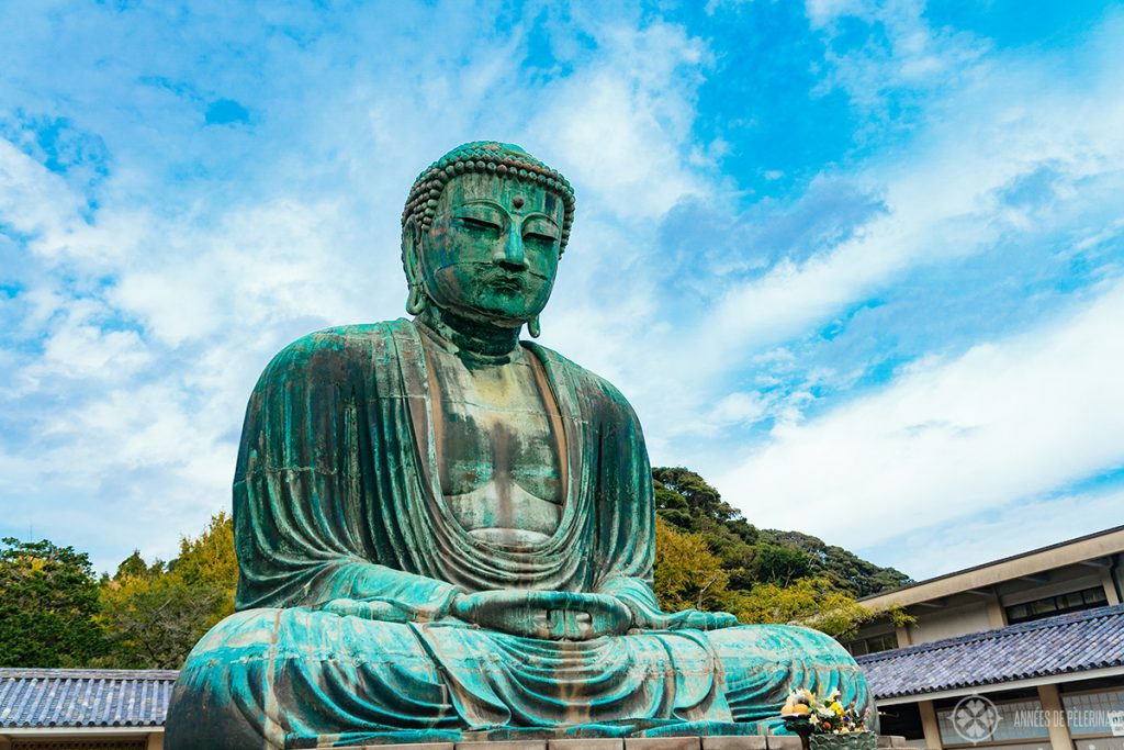 The great buddha of kamakura in the town of the same name in Japan