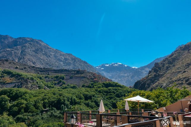 Toubkal National Park as seen from Kasbah du Toubkal in the south of Morocco