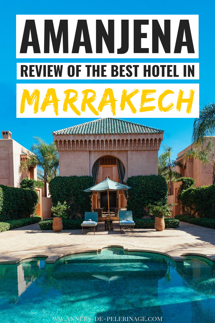 A review of the best luxury hotel in Marrakech, Morocco. Amanjena is a luxury hotel of epic proportions. Run by Aman resorts, the world's most exclusive hotel chain, this luxury resort is a true inside tip. Escape the stress of Marrakech in style. here is my review. #luxury #luxurytravel #marrakech #morocco #northafrica #travel #travelguide #review