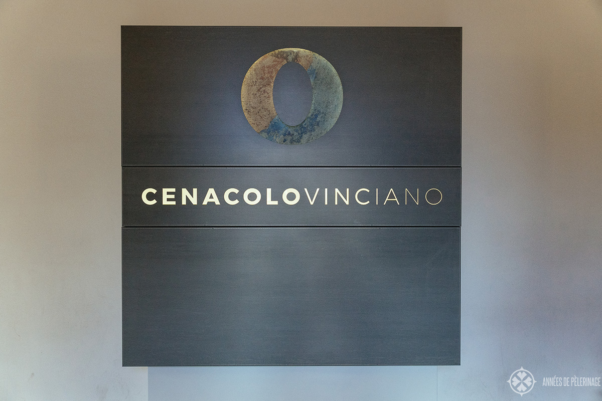 The entrance of the Cenacolo Vinciano museum where Leonardo da Vincis Last supper painting can be visited in Milan, Italy