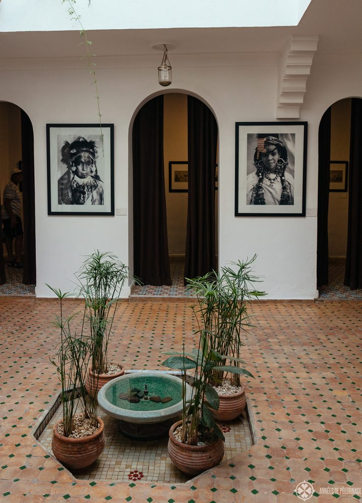 The exhibition inside the House of Photography deep inside the old Medina of Marrakesh, Morocco