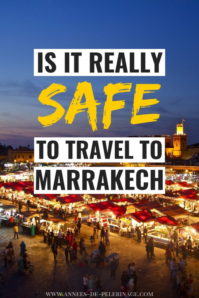 Is Marrakech safe for Americans and Western tourists in general? Yes! But this guide will show you exactly why - hard numbers, facts and first hand experience. But it will also show you common scams, problems and everything else you should know about travel safety in Marrakech. This guide was not only written for solo female travelers in Marrrakech, but all tourists. Click for the details. #Morocco #travel #travelguide #traveltips #wanderlust #explore