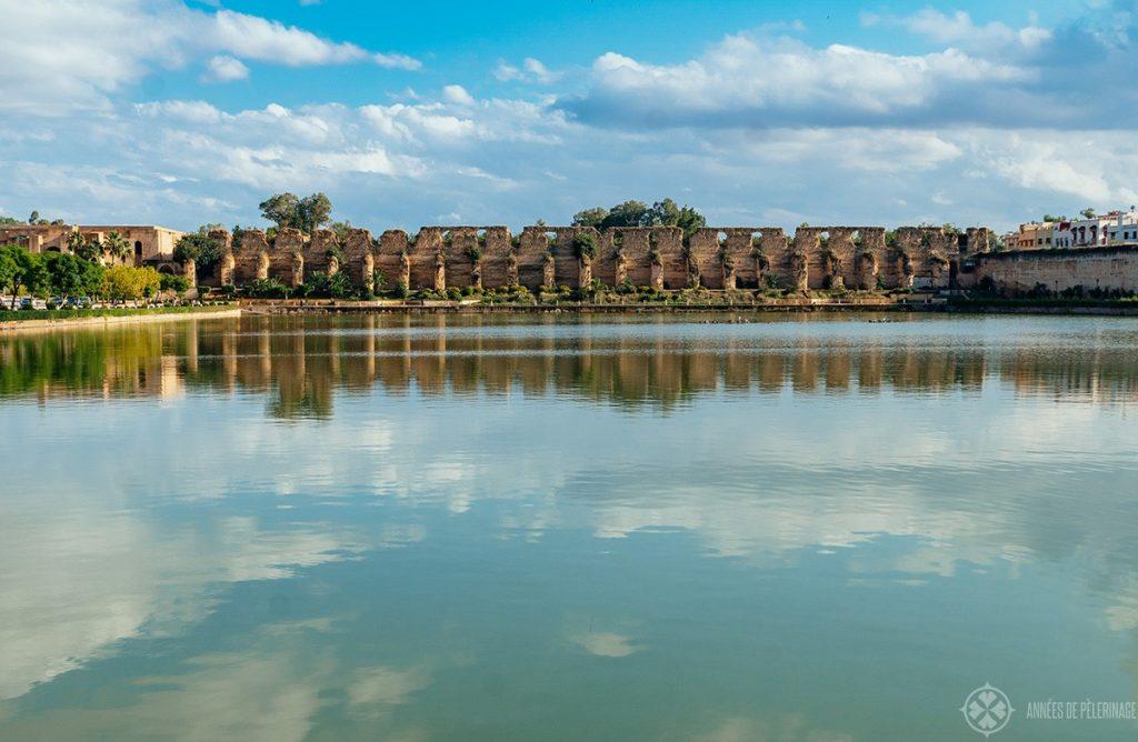 The gigantic Sahrij Swani Basin in Meknes, Morocco - just below the royal stables
