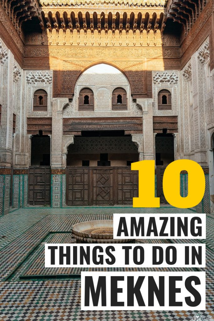 A list of the best things to do in Meknes, Morocco. Learn everything about the top tourist attractions and points of interest in Meknes. The imperial city of Morocco may be overlooked in most Morocco itineraries, but this is a huge mistake. This Meknes travel guide will show you why! Click for more information #morocco #travel #travelguide #afrca #travelling