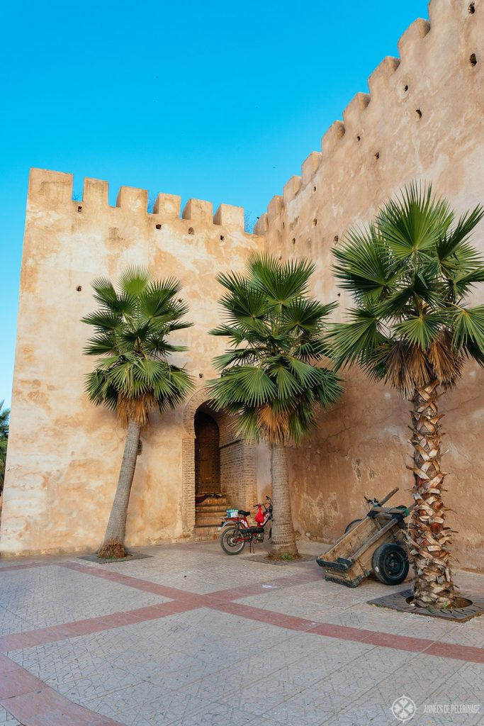 A portion of the wall around the imperial district in Meknes, Morocco