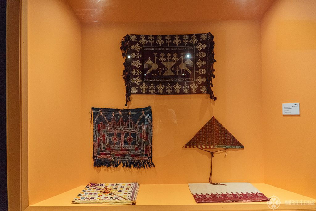The actual exhibition inside the Dar Si Said Museum in Marrekesh, Morocco