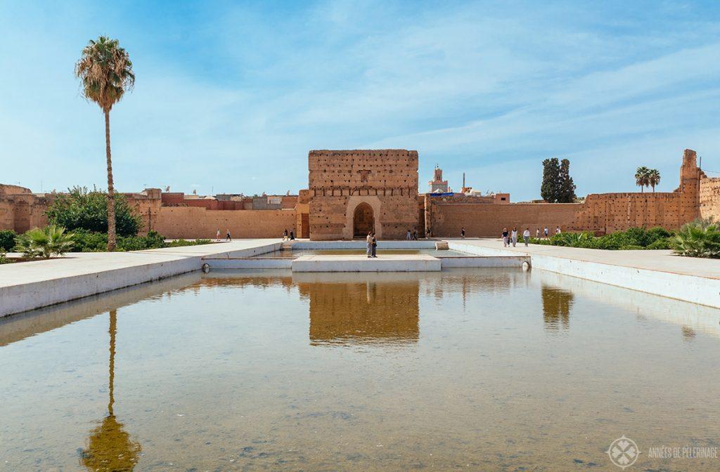 The big pond of the El Badi Palace - a beautiful ruin in Marrekesh Morocco