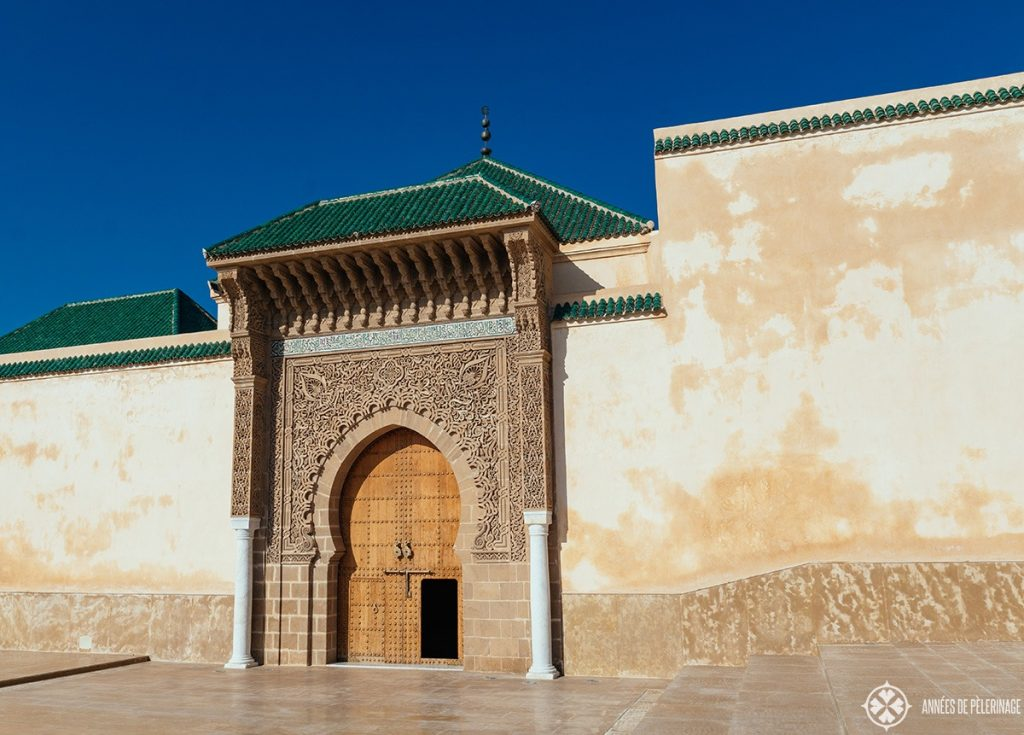 The entrance of the Moulay Ismail Mausoleum in Meknes, Moro