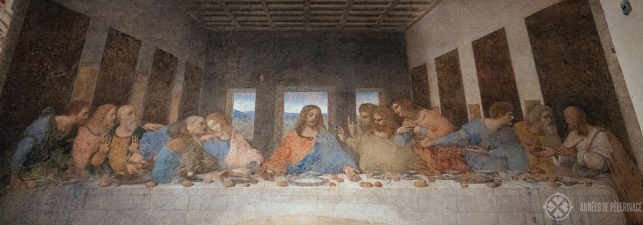 Full lenght of Leonardo da Vinci's last Supper