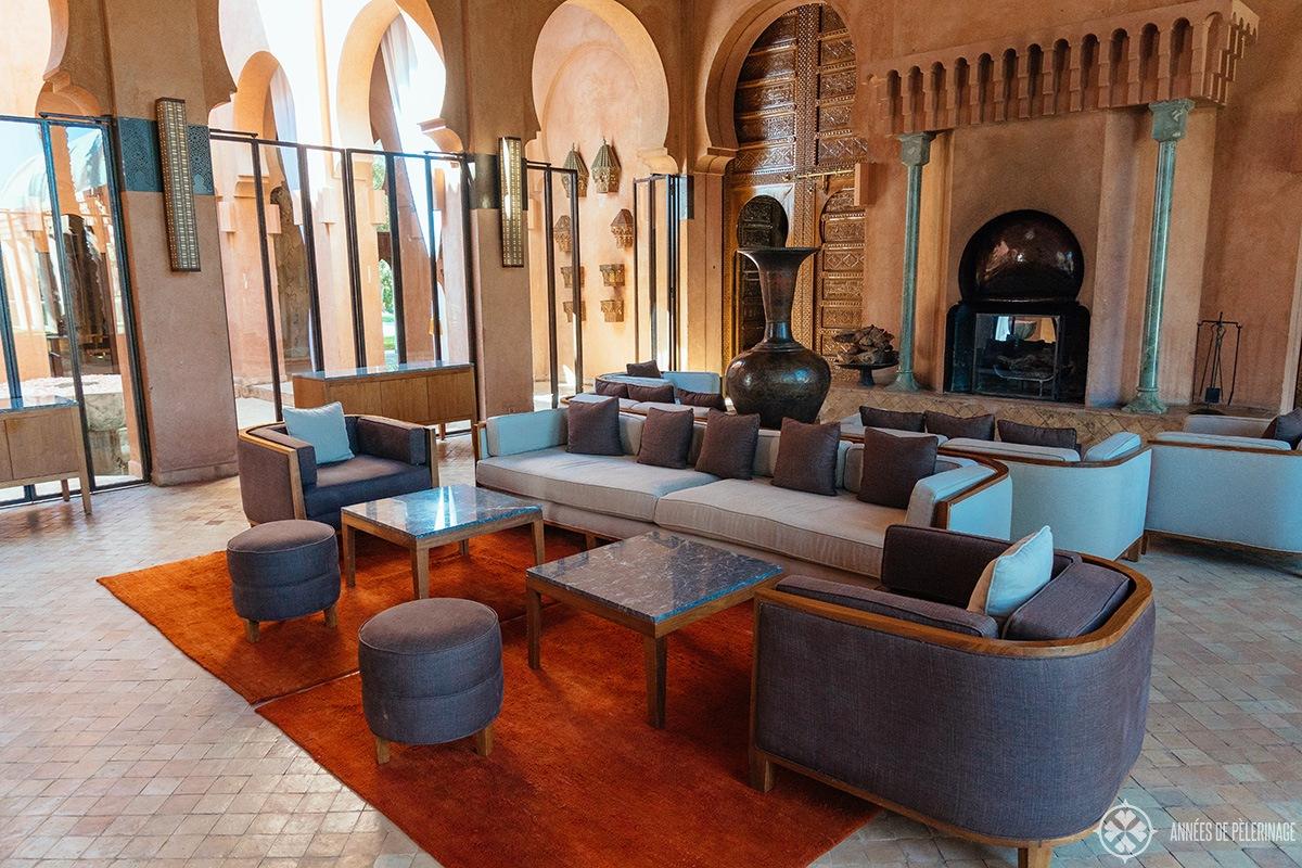 The lobby of Amanjena luxury hotel