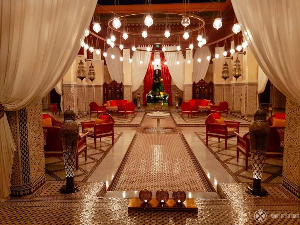 The lobby of the Royal Mansour Marrakesh