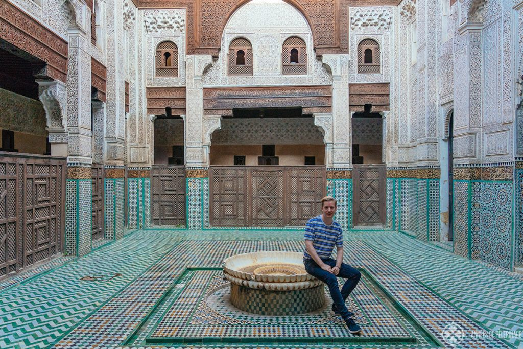 me, enjoying Meknes, Morocco