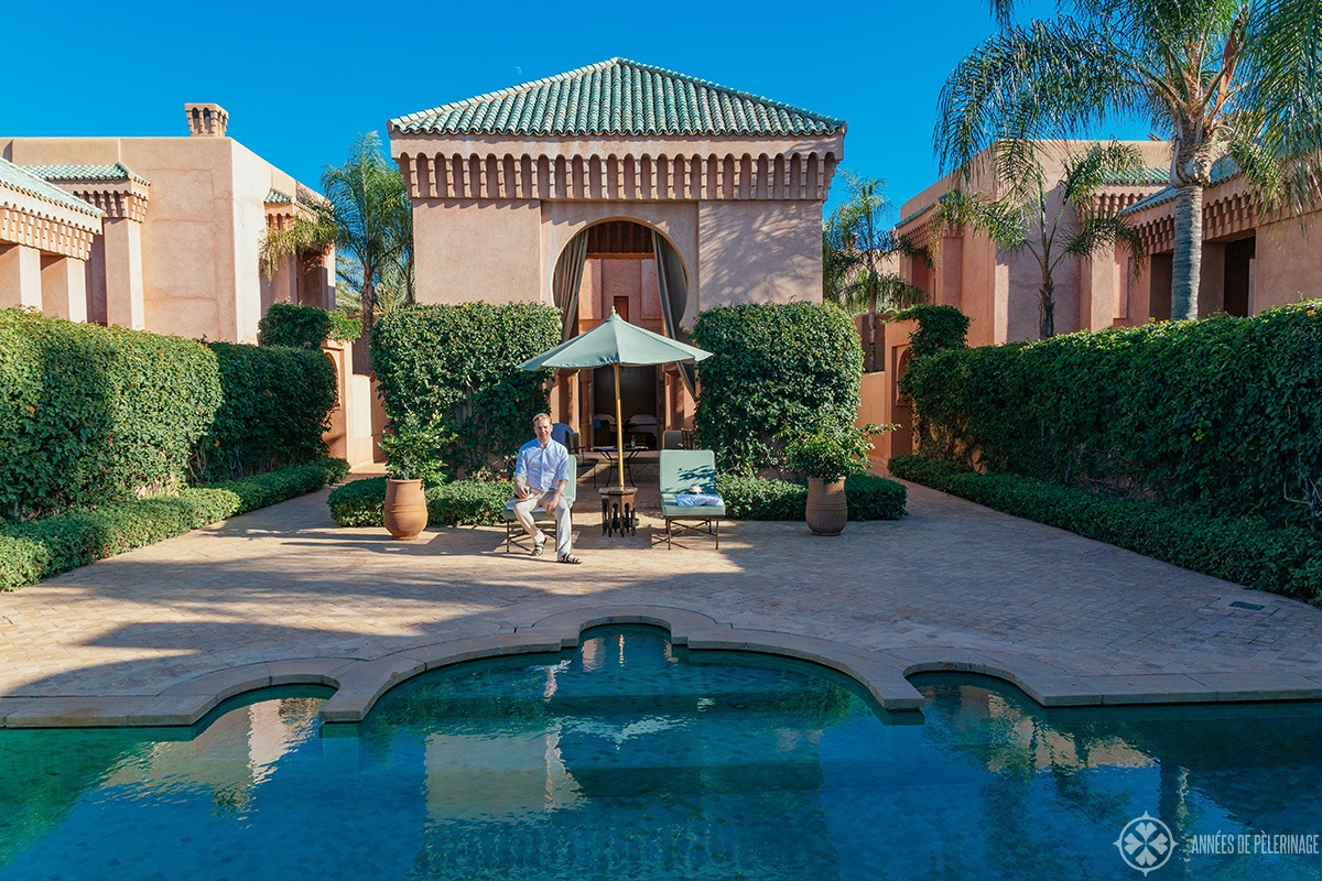 My Pavilion Piscine at the Amanjena luxury hotel in Marrakech, Morocco