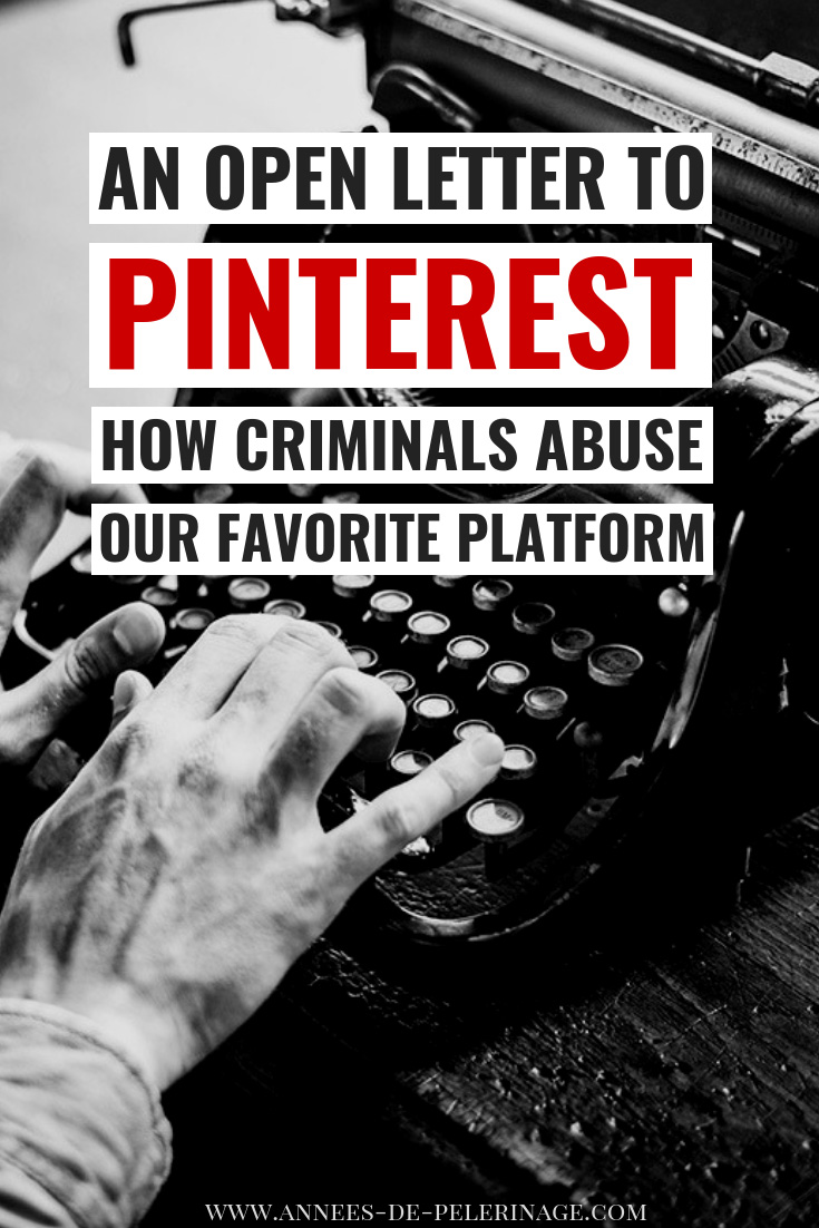 An open letter to pinterest