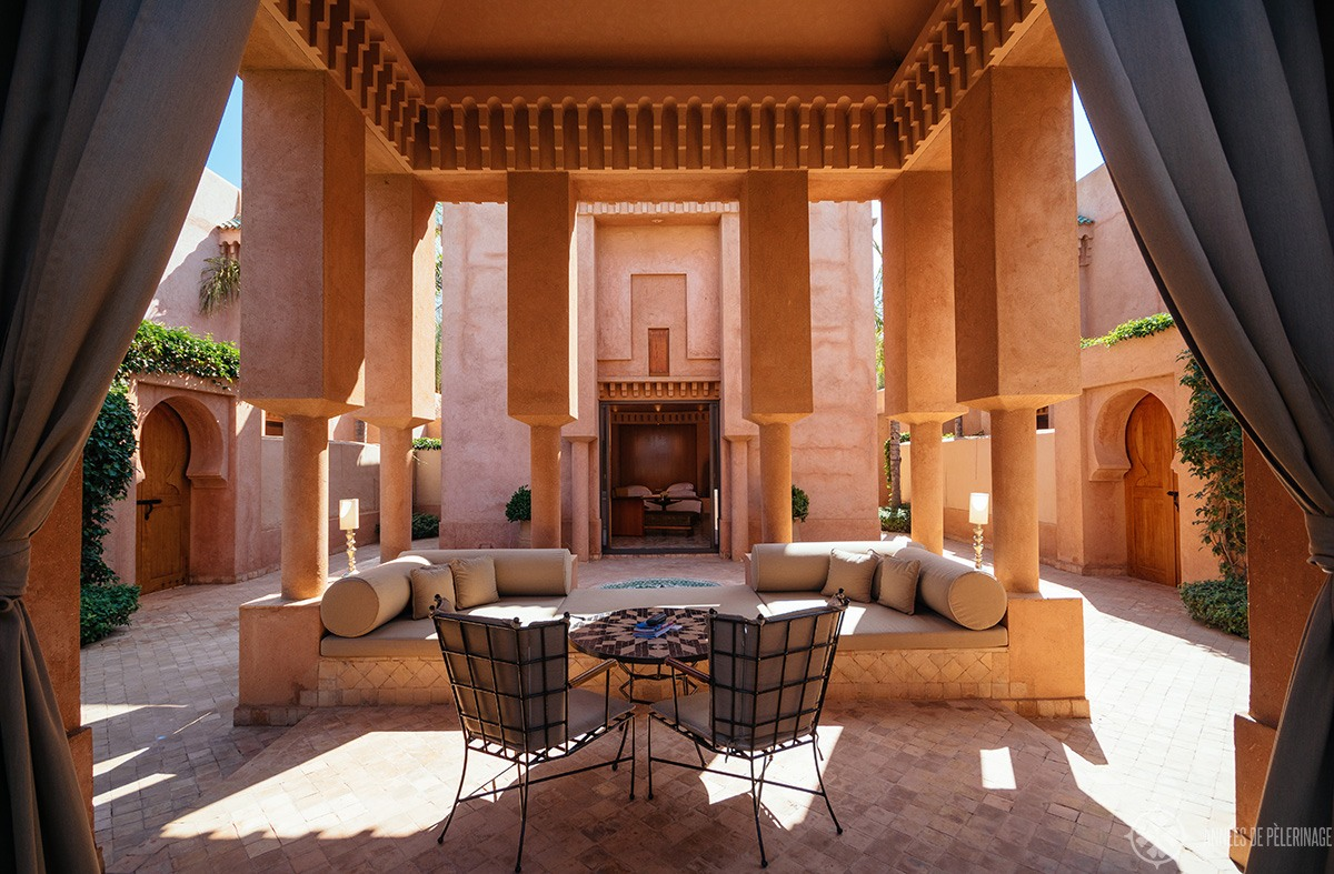 The pavilion piscine luxury villa at amanjena in Marrakech, Morocco - the best luxury hotel in town