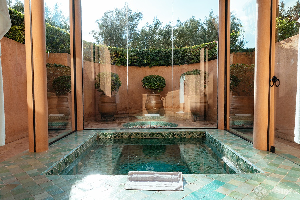 The spa at the Amanjena luxury hotel in Marrakech