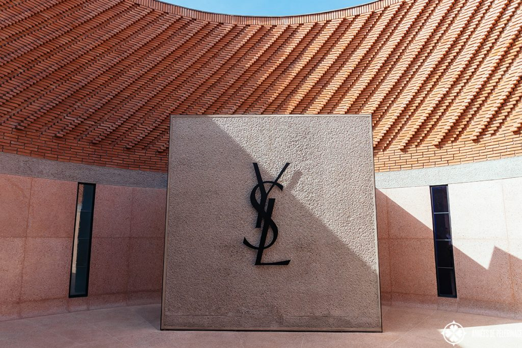 The entrance of the Yves Saint-Laurent Museum in Marrekesh, Morocco