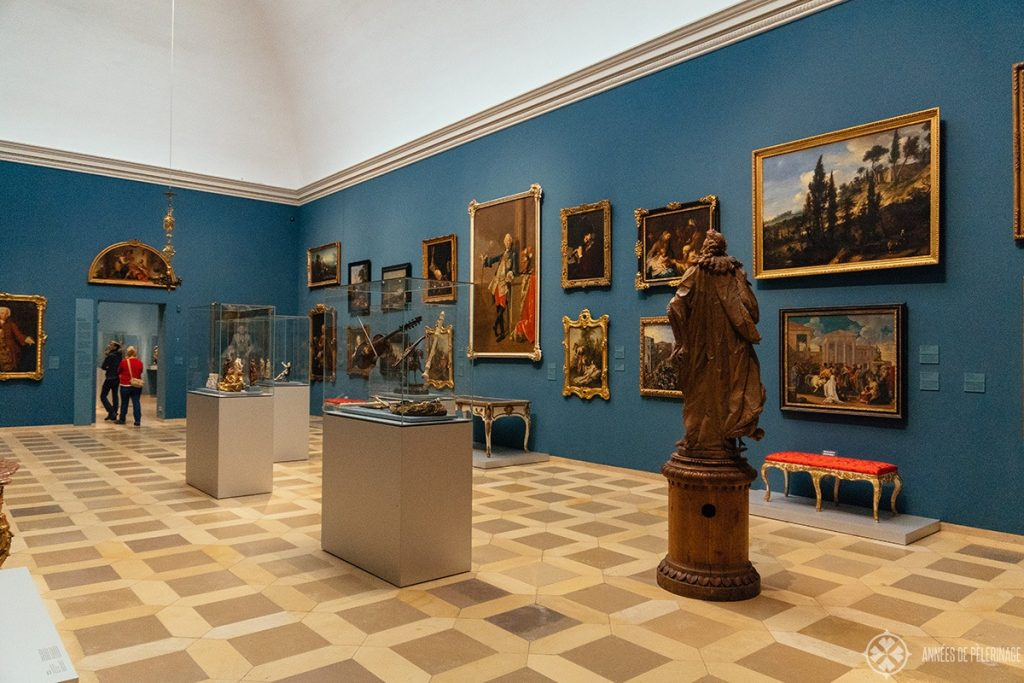The exhibiton rooms inside the Germanisch Nationalmuseum in Nuremberg, Germany - one of the best things to do when it rains