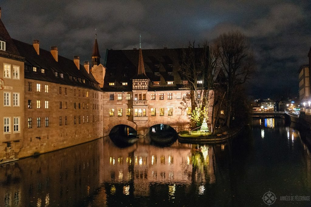 The Heilig Geist Spital - one of the many fun things to do in Nuremberg at night
