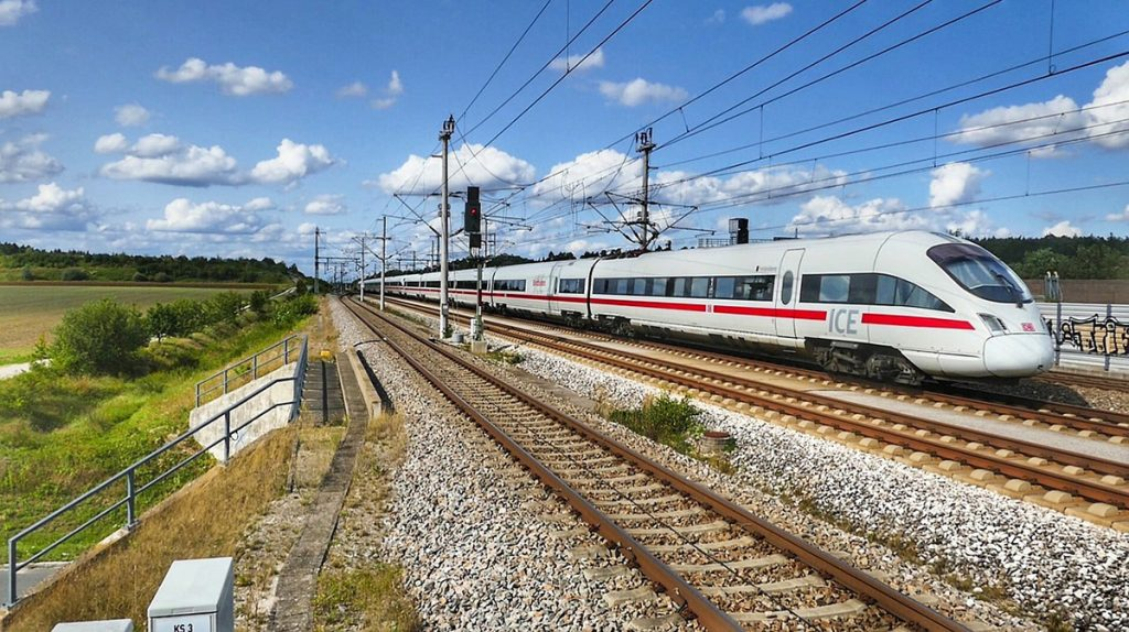 "The highspeed train ""ICE"" from Munich to Nuremberg"