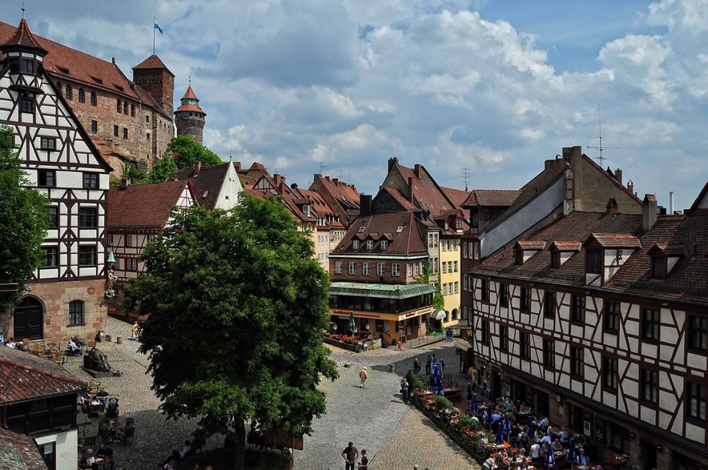 The historic centre of Nuremberg, Germany