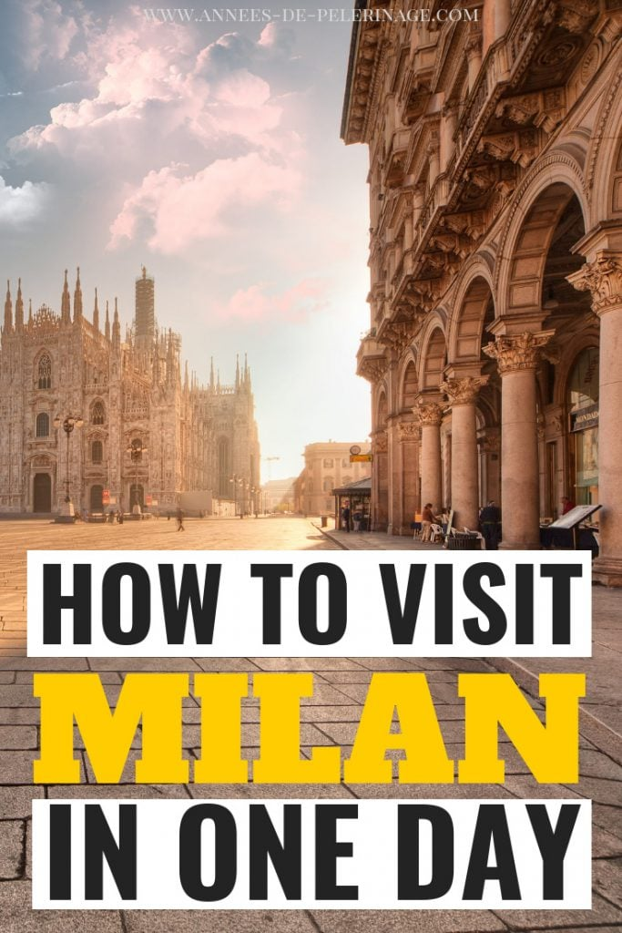 How to visit Milan in one day. A picture perfect Milan itinerary covering all the tourist highlights and most important points of interest. Wondering what to do in Milan in 24 hours? Then this travel guide was written for you. Click for more. #italy #travel #europe #travelguide #traveltips #explore #wanderlust