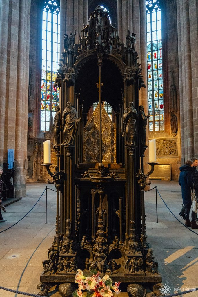 The shrine of St. Sebaldus inside the St. Sebaldus church in Nuremberg, Germany