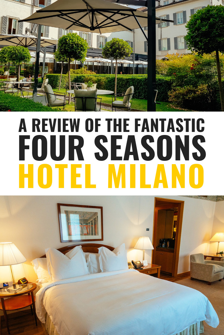A review of the fantastic Four Seasons Hotel Milano. It counts among the best luxury hotels in Italy and is a true haven with its own underground spa. Click to find out more! #luxury #luxuryhotel #travel #italy #explore