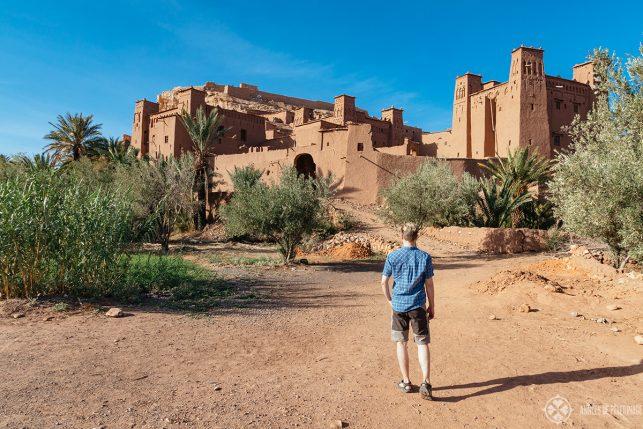 Me exploring Aït Benhaddou in Morocco