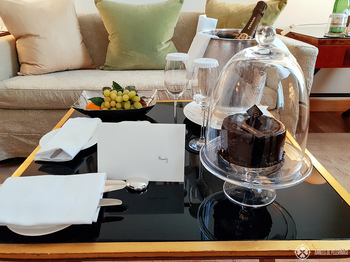 birthday suprise at the Four Seasons Hotel Milano, Italy