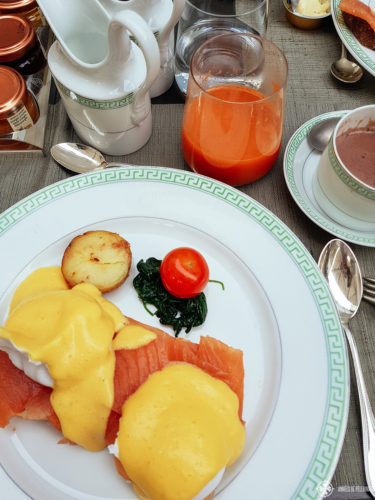 breakfast at the Four Seasons Hotel Milano, Italy