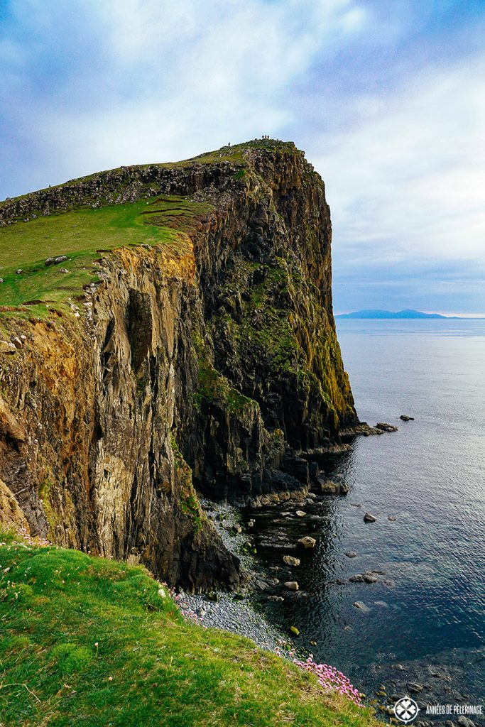 The high cliffs at Neist Point Lighthouse on the Isle of Skye